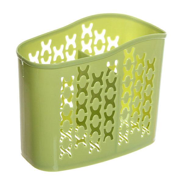 Подставка для столовых приборов 15,5*12,5*7,5см пластиковая, 2 секции купить оптом и в розницу