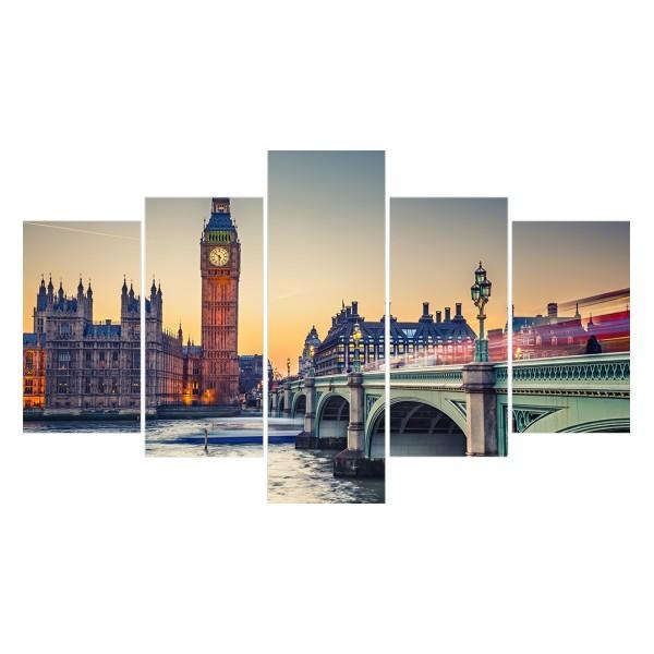 Картина модульная полиптих 75*130 Город диз.2 34-02 купить оптом и в розницу