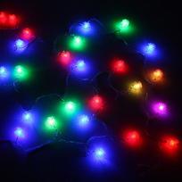 Гирлянда светодиодная 5,5м, 25ламп LED, Одуванчик, RG/RB(красный,зеленый/красный,синий), ав.реж., пр. пров. купить оптом и в розницу