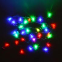 Гирлянда светодиодная 5,5м, 25ламп LED, Шишка, RG/RB(красный,зеленый/красный,синий), ав.реж., пр. пров. купить оптом и в розницу