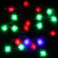 Гирлянда светодиодная 5,5м, 25ламп LED, Звезда, RG/RB(красный,зеленый/красный,синий), ав.реж., пр. пров. купить оптом и в розницу
