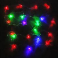 Гирлянда светодиодная 5,5м, 25ламп LED, Колокольчик, RG/RB(красный,зеленый/красный,синий), ав.реж., пр. пров. купить оптом и в розницу