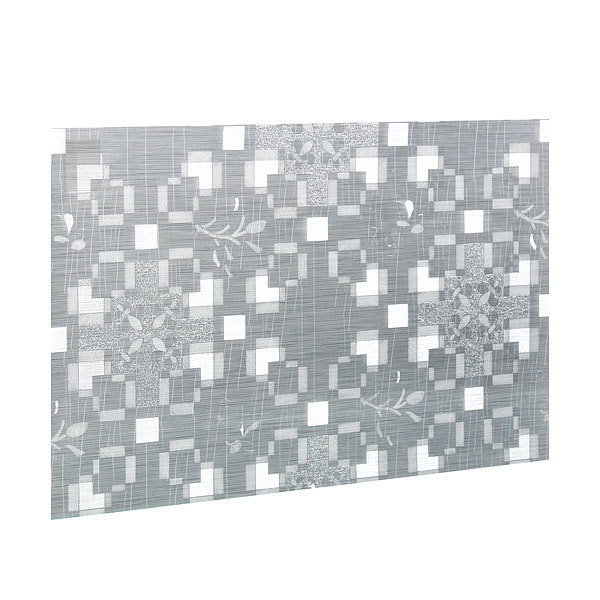 Салфетка на стол 30*45см универсальная, Цветы серебро квадраты купить оптом и в розницу