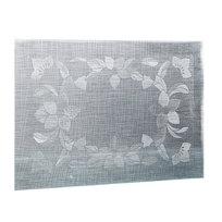 Салфетка на стол 30*45см универсальная, Цветы серебро TD176-A001-C-4 купить оптом и в розницу