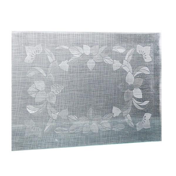 Салфетка на стол 30*45см универсальная, Цветы серебро купить оптом и в розницу