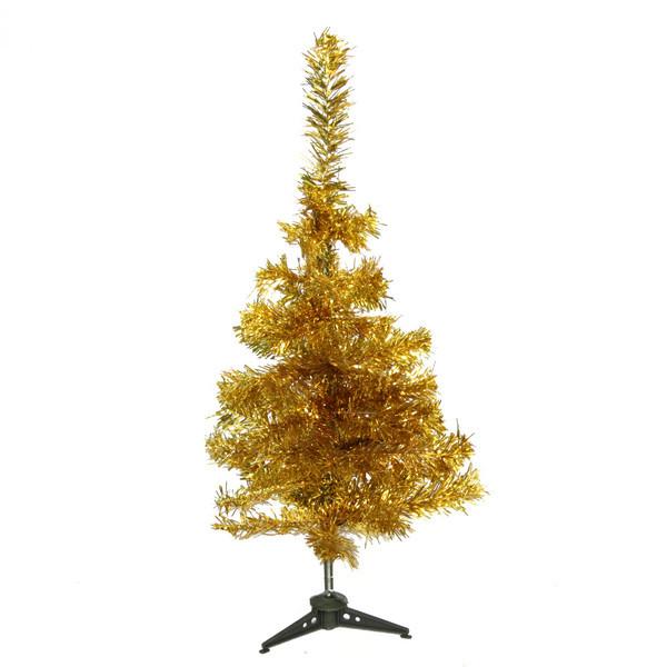 Елка фольгированная 60 см 60веток золото купить оптом и в розницу