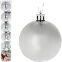 Новогодние шары ″Снежок″ 6см (набор 6шт.) купить оптом и в розницу