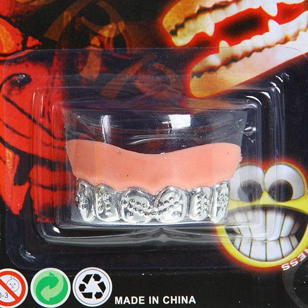 Зубы карнавальные серебро″ купить оптом и в розницу