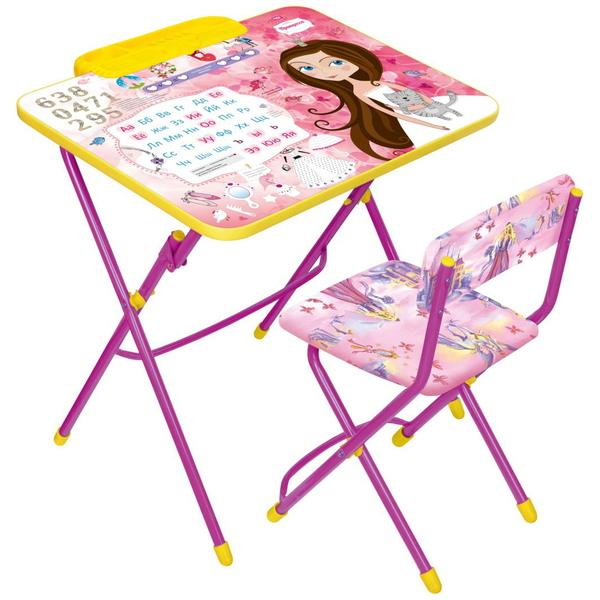 Набор детской мебели ″Никки.Маленькая принцесса″ складной, с пеналом, мягкий стул КУ2/17 купить оптом и в розницу