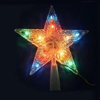 Звезда для елки светодиодная,10 ламп LED, мультицвет, пров. 2 м купить оптом и в розницу