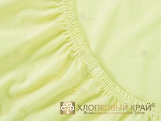 Простынь трикотажная на резинке 160х200х20 лимон Хлопковый Край купить оптом и в розницу