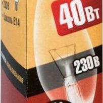 Лампа накаливания Navigator NI-В-40Вт-E14-230В-СL прозрачн.свеча (10/100) купить оптом и в розницу
