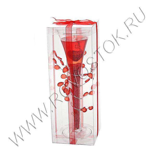 Свеча гелевая ″Сердца-2″ 20 см купить оптом и в розницу