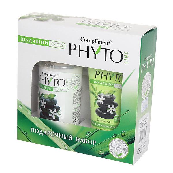 Подарочный набор женский ″Зеленый чай″ (крем для рук и ногтей и жидкое мыло) Compliment PHYTO купить оптом и в розницу