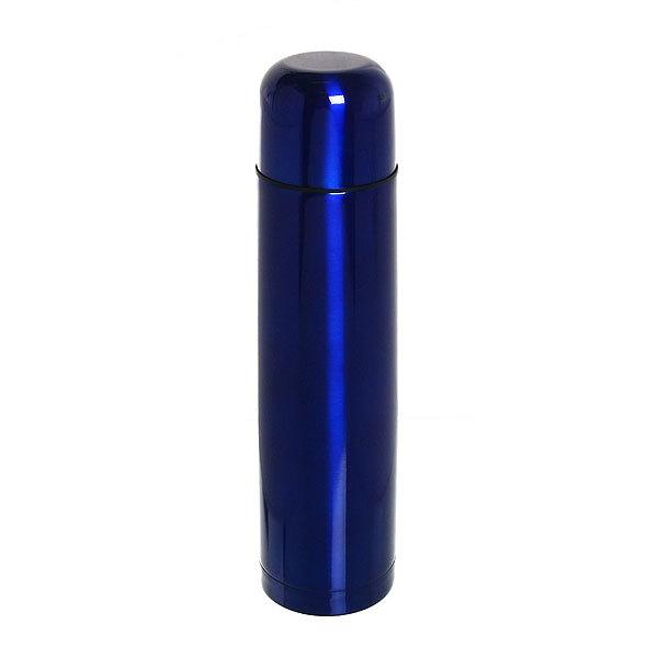 Термос с металлической колбой 1000 мл ″Селфи″ синий купить оптом и в розницу
