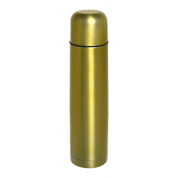 Термос с металлической колбой 1000 мл ″Селфи″ золотой купить оптом и в розницу