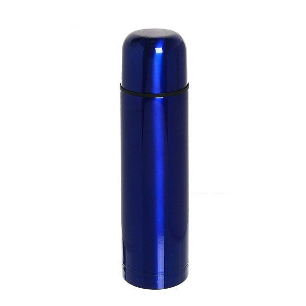 Термос с металлической колбой 500 мл ″Селфи″ синий купить оптом и в розницу