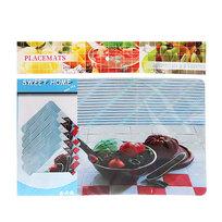 Набор салфеток на стол 42*27см 6+6шт Овощи СD-003 купить оптом и в розницу