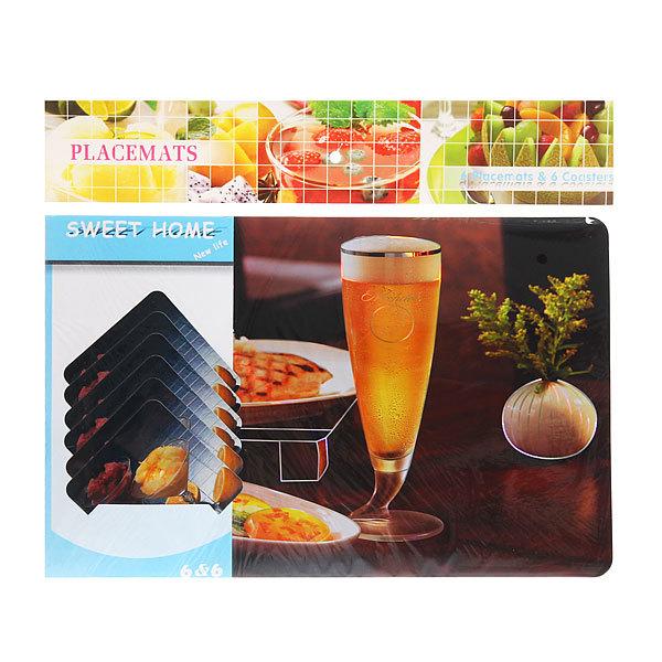 Набор салфеток на стол 42*27см 6+6шт Ужин СD-006 купить оптом и в розницу