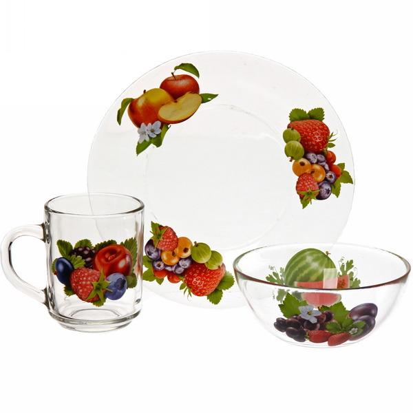 Набор посуды для завтрака ″Ягодная поляна″ 3 купить оптом и в розницу