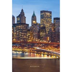 """Книжка записная А5, 100л, клетка, сшивка, твердая обложка, ЭКСМО, """"Городской стиль. Огни ночного города"""" купить оптом и в розницу"""