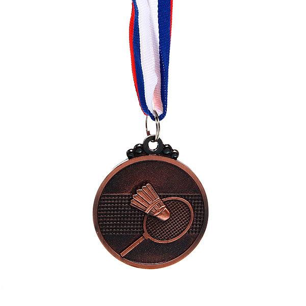 Медаль ″Бадминтон″ - 3 место (5см) купить оптом и в розницу
