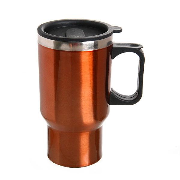 Термокружка 450 мл ″Серп и молот″ оранжевая металик купить оптом и в розницу