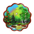 Панно из натурального камня ″Река у леса″ 23 см купить оптом и в розницу