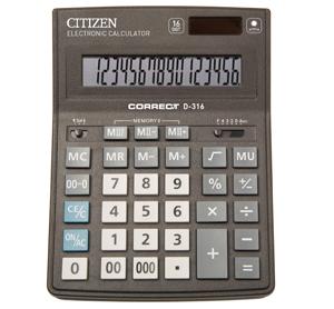 Калькулятор CITIZEN Correct настольный 16раз 155*205*28мм купить оптом и в розницу