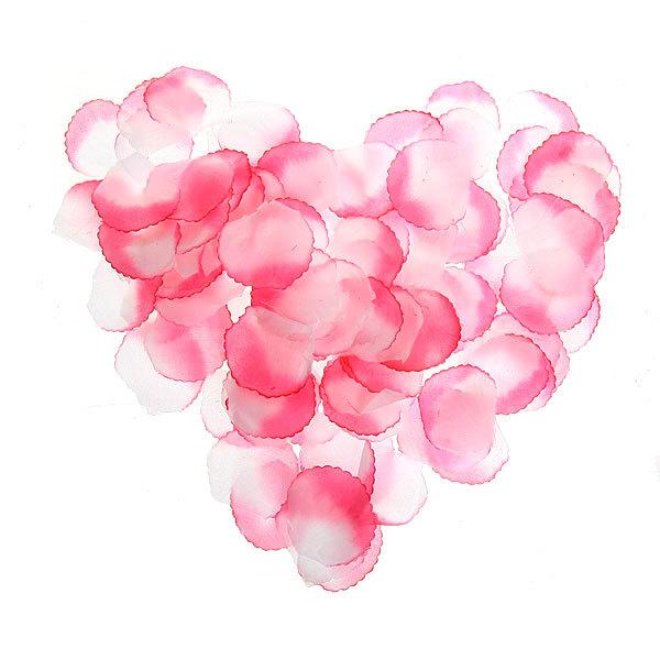 Лепестки роз бело-розовые, 100 шт в упаковке, 4*4 см купить оптом и в розницу