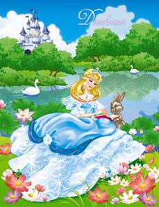 """Дневник д/младш.кл.интегр.обл.КТС, """"Принцесса и заяц"""", блестки купить оптом и в розницу"""