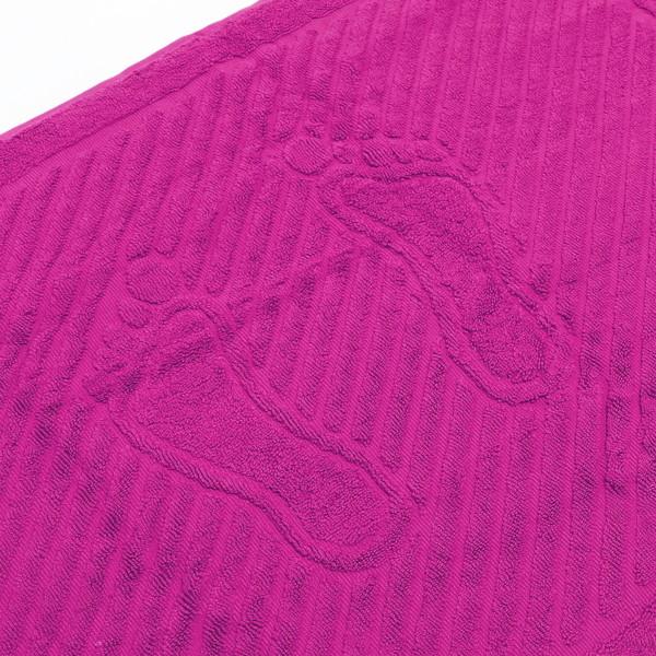 Махровое полотенце для ног 50*70см малиновое купить оптом и в розницу