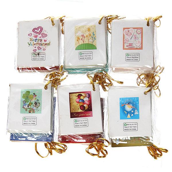 Набор поздравительных открыток, 4*3см 252 штуки купить оптом и в розницу