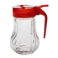 Сахарница стеклянная с дозатором, красная, с ручкой купить оптом и в розницу