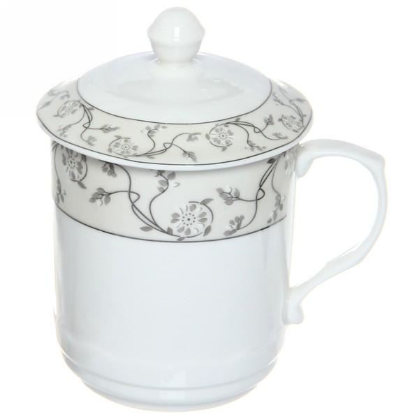 Кружка керамическая с крышкой 300мл ″Королевское чаепитие″ 4 купить оптом и в розницу