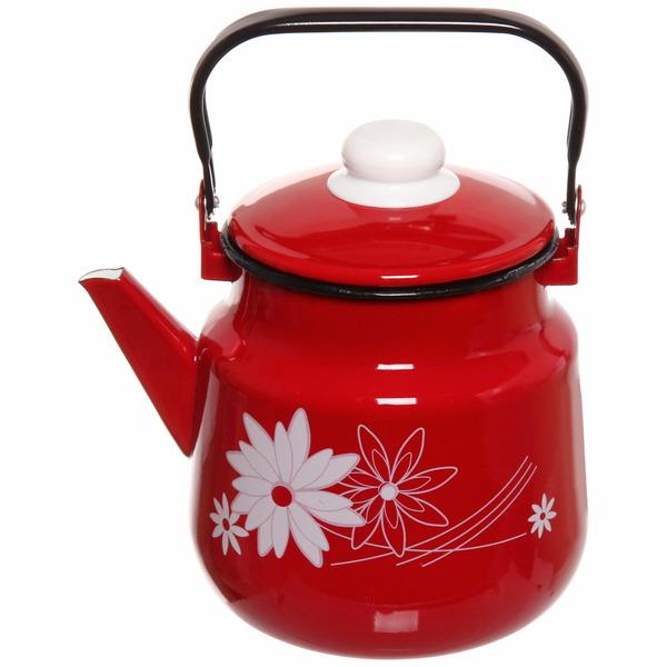 Чайник эмалированный 3,5л с рисунком вишня купить оптом и в розницу