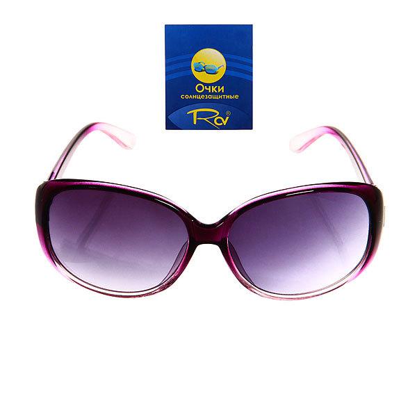 Очки солнцезащитные женские, форма овальная ″Сантана ШИК″, цвет красный купить оптом и в розницу