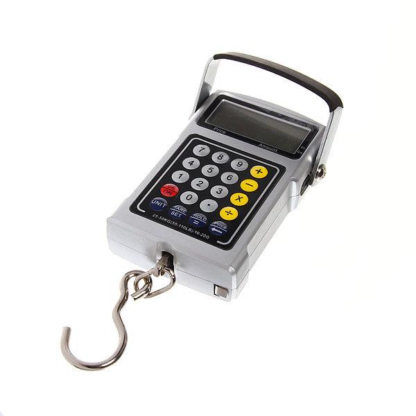 Безмен электронный 50 кг DS10 Рыбацкий многофункциональный водонепроницаемые купить оптом и в розницу