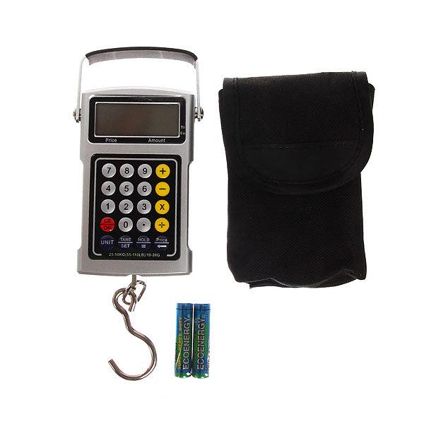 Безмен электронный 50 кг DS10 Рыбацкий многофункциональный водонепроницаемый купить оптом и в розницу