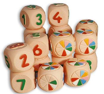 Рез. Набор кубиков Веселая Арифметика СИ-106 купить оптом и в розницу