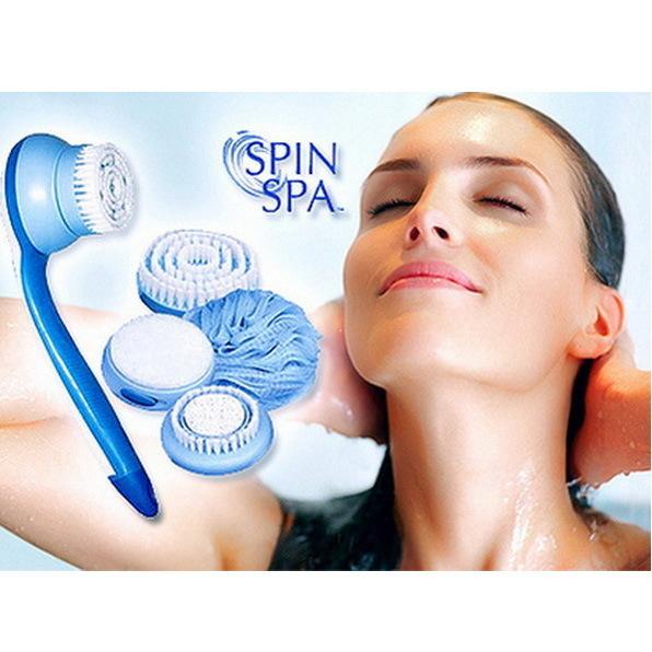 Массажная щетка для тела ″Spin Spa″ с 5 насадками купить оптом и в розницу