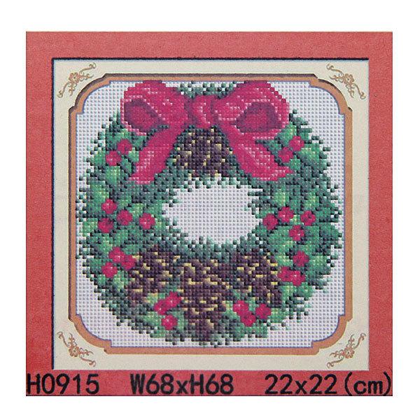 Набор для аппликации из страз 22*22см ″Рождественский венок″ H0915 купить оптом и в розницу