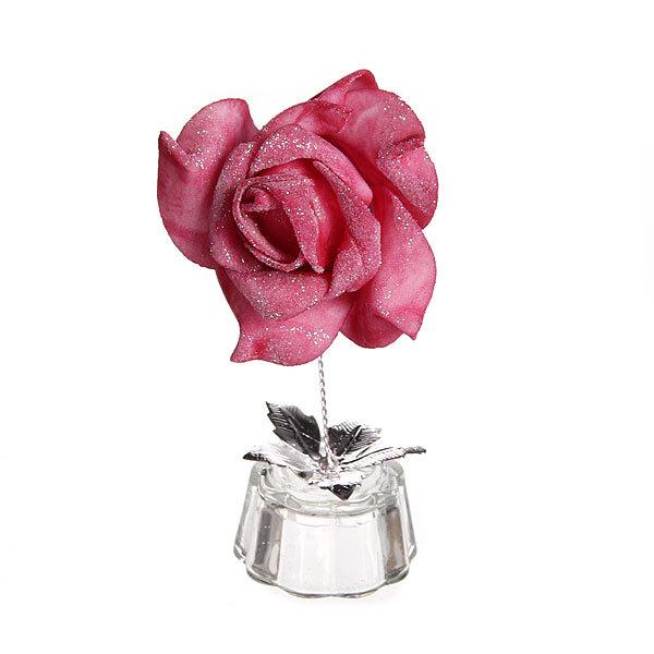 Фигурка из акрила ″Роза блестящая″ 12 см В001-95 купить оптом и в розницу