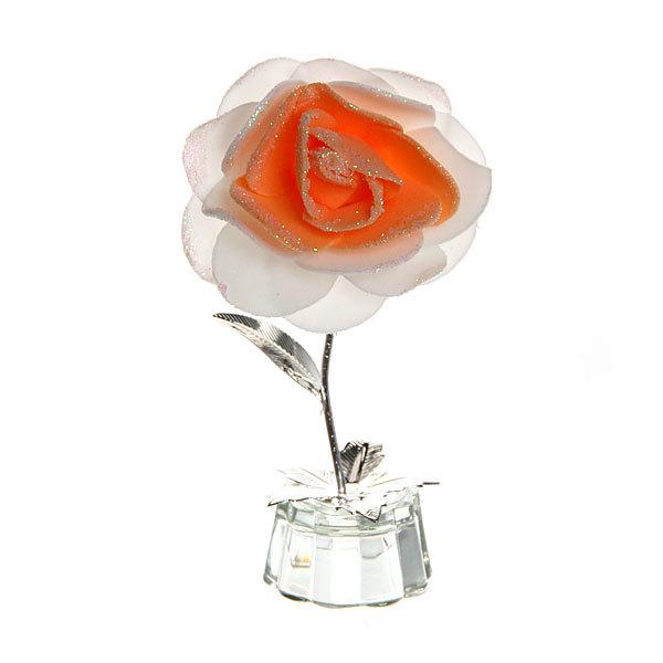 Фигурка из акрила ″Роза двухцветная″ 13 см купить оптом и в розницу