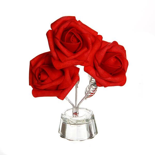 Фигурка из акрила ″Роза 3 цветка″ 13 см В001-96 купить оптом и в розницу