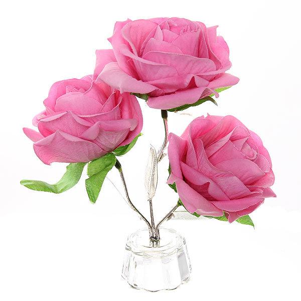Фигурка из акрила ″Роза 3 цветка″ 15 см купить оптом и в розницу