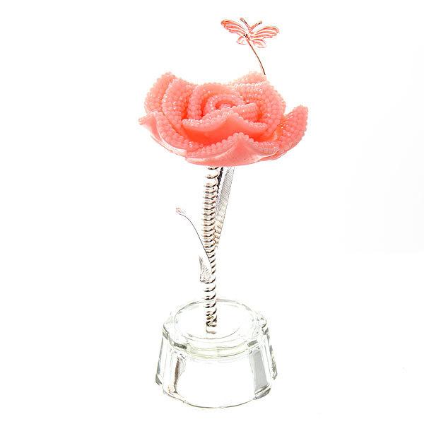 Фигурка из акрила ″Роза с бабочкой″ 11,5 см купить оптом и в розницу