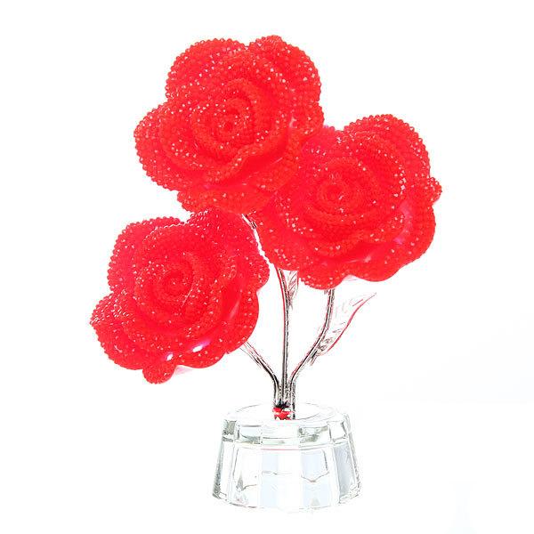 Сувенир из акрила ″Роза 3 цветка″ 12,5 см купить оптом и в розницу