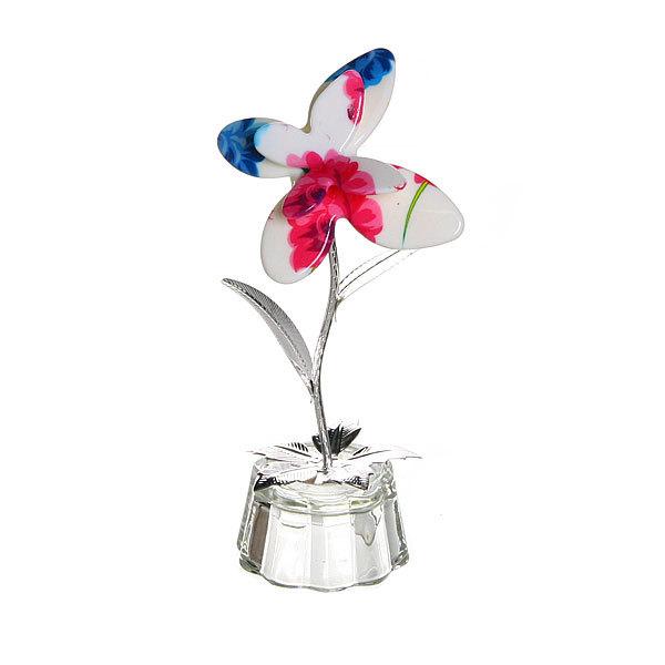 Фигурка из акрила″Бабочка на цветке″ 11 см купить оптом и в розницу