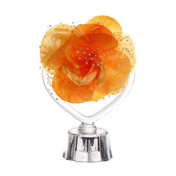 Фигурка из акрила ″Сердце с розой″ 13 см купить оптом и в розницу